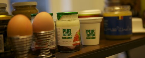 Brussels Organic products with breakfast